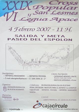 XXIX CROSS POPULAR DE SAN LESMES Y VI LEGUA DE APACE